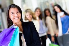 Woman at shopping center Royalty Free Stock Images