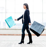 Woman at the shopping center Stock Photo