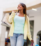 Woman at the shopping center Stock Photos