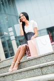 Woman In Shopping Stock Images