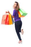 Woman on shopping Royalty Free Stock Image