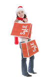 Woman Shopping at Christmas Royalty Free Stock Photo