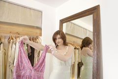 Woman Shopping Clothes Royalty Free Stock Photography