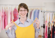 Woman shopping for clothes Royalty Free Stock Photo