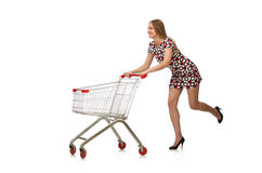 Woman in shopping concept Stock Photo