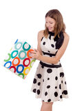 Woman in shopping Stock Photography