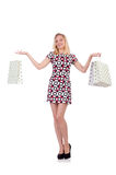 Woman in shopping Royalty Free Stock Images