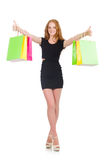Woman in shopping concept Royalty Free Stock Images
