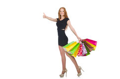 Woman in shopping concept Royalty Free Stock Photography