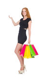 Woman in shopping concept Royalty Free Stock Photos