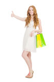 Woman in shopping concept Stock Photography