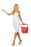 Woman in shopping concept isolated Stock Image