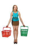 Woman in shopping concept isolated Stock Photo
