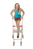 Woman in shopping concept isolated Stock Photos