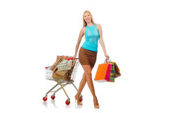 Woman in shopping concept Stock Image