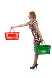 Woman in shopping concept Stock Images
