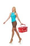 Woman in shopping concept Royalty Free Stock Photos