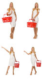 The woman in shopping concept Royalty Free Stock Photography