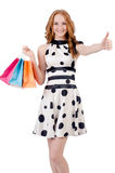 Woman in shopping Royalty Free Stock Photography