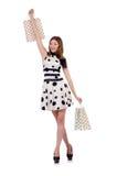 Woman in shopping concept Stock Photos