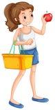 Woman shopping fresh ingredient Royalty Free Stock Photo
