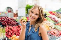 Woman shopping fruits Royalty Free Stock Image