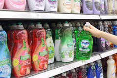 Woman shopping in grocery store Stock Photo