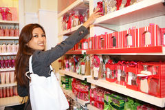 Woman Shopping during Holidays Royalty Free Stock Images