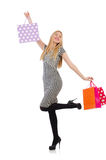 Woman after shopping Royalty Free Stock Images