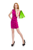 Woman after shopping Royalty Free Stock Photo
