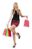 Woman after shopping Stock Photos