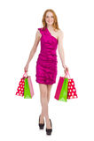 Woman after shopping Royalty Free Stock Photography
