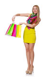 Woman after shopping Royalty Free Stock Image