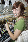 Woman Shopping In Jewellery Store Royalty Free Stock Image