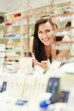 Woman shopping in jewelry store Stock Photography