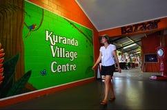 Woman shopping  at Kuranda village centre in Queensland Australi Royalty Free Stock Photography