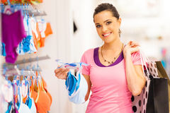Woman shopping lingerie Royalty Free Stock Images