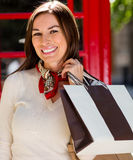 Woman shopping in London Royalty Free Stock Photos
