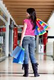 Woman shopping at the mall Royalty Free Stock Images