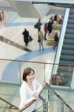 Woman in shopping mall. Middle age woman in shopping mall/center Stock Image