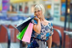 Woman in shopping mall Stock Photos