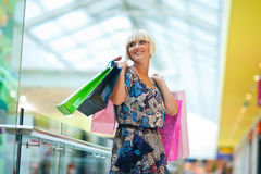 Woman in shopping mall Royalty Free Stock Image