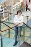 Woman in shopping mall Royalty Free Stock Images