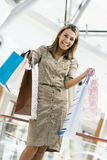 Woman shopping in mall Stock Photo