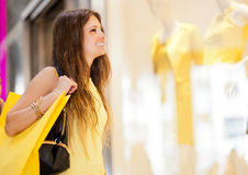 Woman in a shopping mall Royalty Free Stock Photography