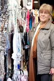 Woman shopping in market Stock Photo