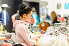 Woman shopping in market Royalty Free Stock Photo