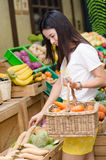Woman shopping at the market Royalty Free Stock Images
