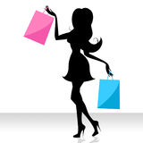 Woman Shopping Means Commercial Activity And Adult Stock Images