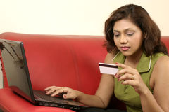 Woman Shopping online Royalty Free Stock Photo